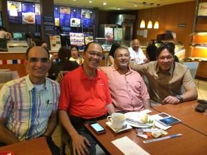 "From left to right: Sohrab Kakalia, Jose Ma. ""Kuya Boy"" Montelibano, Rumy Mohta and Mark Caringal"